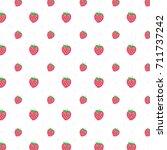 strawberry pattern vector | Shutterstock .eps vector #711737242