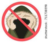 no fur sign in vector flat...   Shutterstock .eps vector #711738598