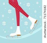 ice skates | Shutterstock .eps vector #71174182