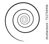 spiral icon. | Shutterstock .eps vector #711743446