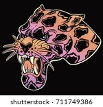 panther's portrait made in an... | Shutterstock .eps vector #711749386