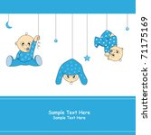 baby boy arrival card | Shutterstock .eps vector #71175169