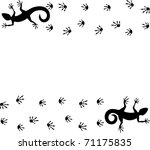 lizards and traces. vector...   Shutterstock .eps vector #71175835