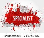 specialist word cloud ... | Shutterstock . vector #711763432