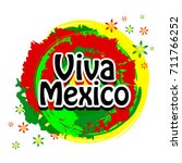 viva mexico design. | Shutterstock .eps vector #711766252