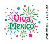 viva mexico design. | Shutterstock .eps vector #711766255