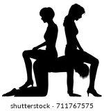 editable vector silhouette of... | Shutterstock .eps vector #711767575