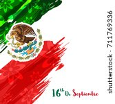 mexico independence day and... | Shutterstock .eps vector #711769336