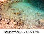 beautiful lake bimmah sink hole ... | Shutterstock . vector #711771742