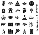 buddhism icons set. simple set... | Shutterstock . vector #711771772