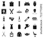 recreation icons set. simple... | Shutterstock . vector #711773392