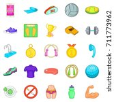 hotiron icons set. cartoon set... | Shutterstock . vector #711773962