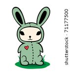 bunny in a costume | Shutterstock .eps vector #71177500