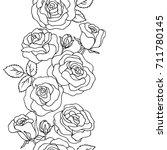 vector black white contour... | Shutterstock .eps vector #711780145