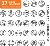 shoes properties symbols. these ... | Shutterstock .eps vector #711789715