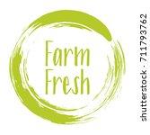 farm fresh label vector ... | Shutterstock .eps vector #711793762