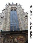 architecture  gothic window | Shutterstock . vector #711804202