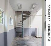 spiral staircase inside house... | Shutterstock . vector #711804802