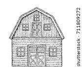 farming barn. farm house for... | Shutterstock . vector #711809272
