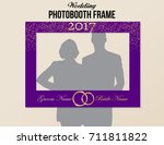 photobooth wedding frame with... | Shutterstock .eps vector #711811822