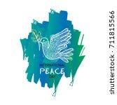 international peace day | Shutterstock .eps vector #711815566