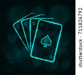 game cards icon. four playing... | Shutterstock . vector #711826792