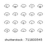 simple set of computer cloud ... | Shutterstock .eps vector #711833545