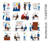 business training and... | Shutterstock . vector #711835708