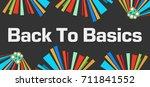 back to basics dark colorful... | Shutterstock . vector #711841552