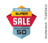 super sale   vertical vector... | Shutterstock .eps vector #711853612