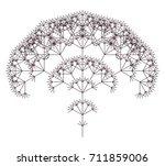 flat vector computer generated  ... | Shutterstock .eps vector #711859006