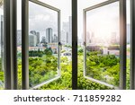 sunshine at the window with... | Shutterstock . vector #711859282