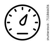 speed meter icon | Shutterstock .eps vector #711866656