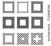 set of celtic frames   vector... | Shutterstock .eps vector #711868246