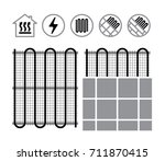 floor heating systems | Shutterstock .eps vector #711870415