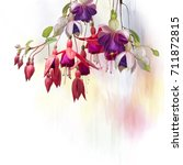 Digital Painting Of  Purple And ...