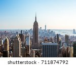 new york city skyline with... | Shutterstock . vector #711874792
