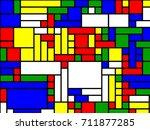 neoplasticism of rectangular... | Shutterstock .eps vector #711877285