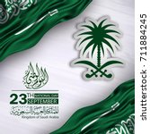 saudi arabia national day in... | Shutterstock .eps vector #711884245