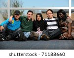 diverse group of young people... | Shutterstock . vector #71188660