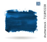 blue brush stroke and texture.... | Shutterstock .eps vector #711892228