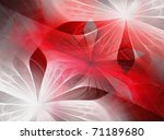 Beautiful Fractal Flowers Red ...