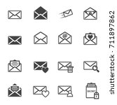 envelope letter and e mail...   Shutterstock .eps vector #711897862