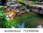 Water Cascades From A Ozark...