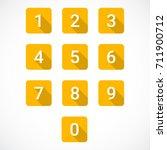 set of 0 9 numbers | Shutterstock .eps vector #711900712
