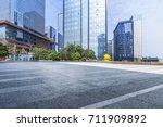 empty floor with modern... | Shutterstock . vector #711909892