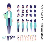 front  side  back view animated ... | Shutterstock .eps vector #711912472