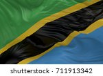 national flag of the tanzania... | Shutterstock . vector #711913342