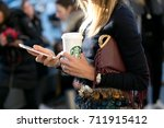 paris january 25  2016. erica... | Shutterstock . vector #711915412