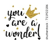 you are a wonder slogan for... | Shutterstock .eps vector #711922186